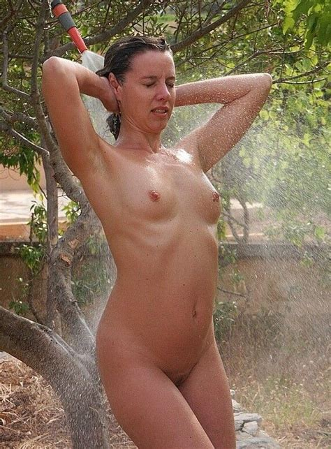 Milf naked outdoor